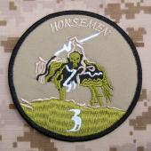 YJPF SEAL TEAM 3 Horsemen Patch - nášivka - A-TACS FG Army